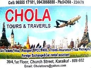CHOLA TOURS AND TRAVERLS