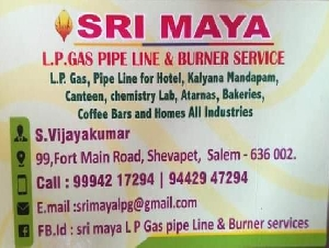 Sri Maya LPG Pipeline and Burner Service
